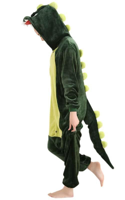Groene Draak Onesie voor heren, dames, jongens en meisjes