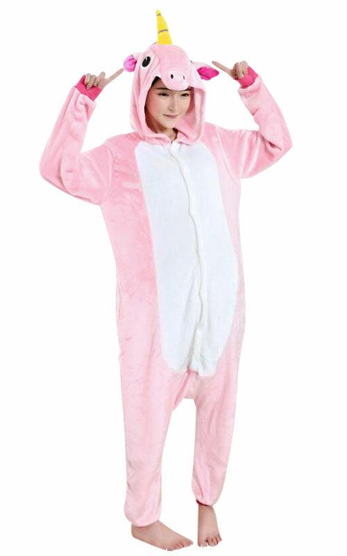 Roze Eenhoorn 2.0 Onesie voor heren, dames, jongens en meisjes