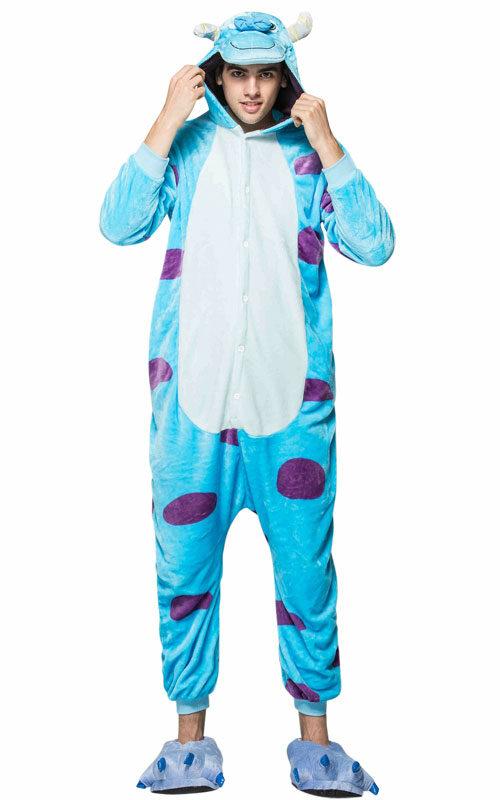 Blauw Monster Onesie voor heren, dames, jongens en meisjes