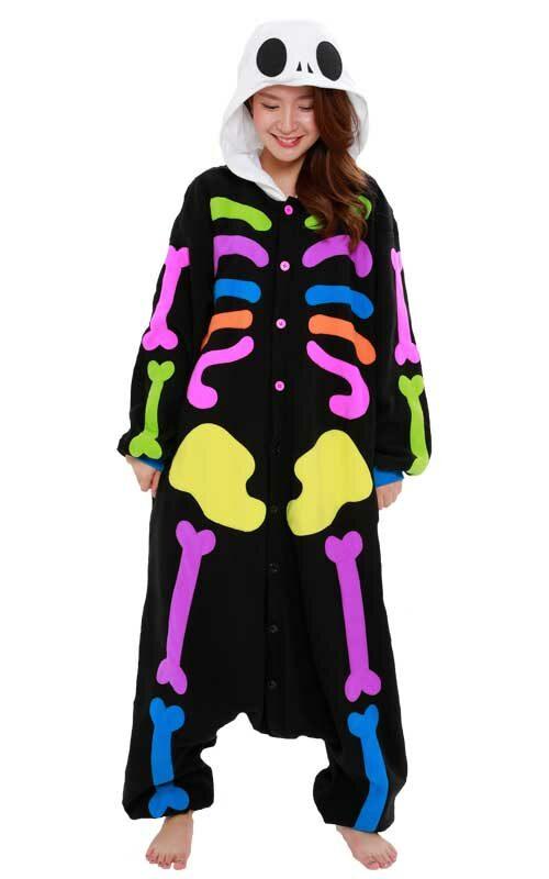 Regenboog Skelet Onesie voor heren, dames, jongens en meisjes