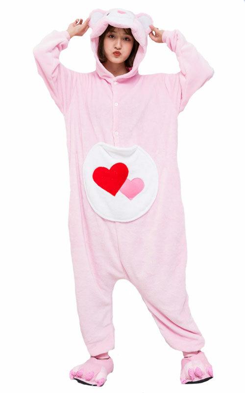 Troetelbeertjes Roze Onesie voor heren, dames, jongens en meisjes